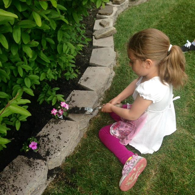 My little gardening helper!